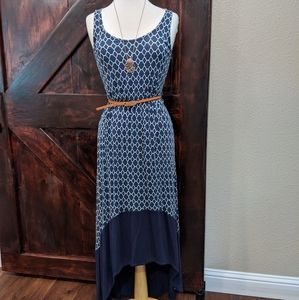 Merona high low blue dress